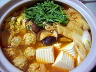 キムチ鶏団子鍋