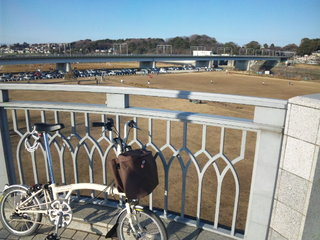 Brompton at 丸子橋
