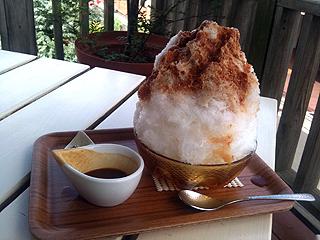 埜庵のかき氷 キャラメルミルク
