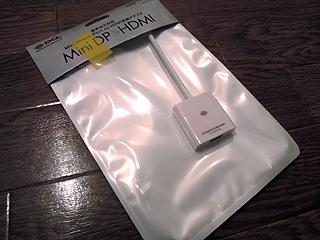 MiniDisplayポート→HDMI変換アダプタ