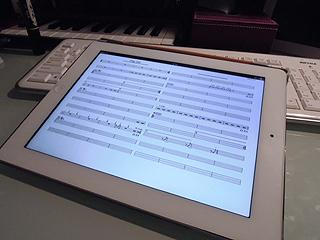 iPadに取り込んだ譜面