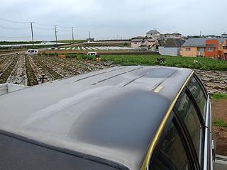 屋根も下地状態のリーガルワゴン