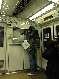電車に興味津々のshimaken氏