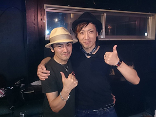 Toshi氏(ex.Magic)と記念撮影